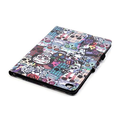 Vandot Etui IPad Air 2(iPad 6) Tablette Coque IPad Air 2(iPad 6) Ultra Slim Léger Smart Cover IPad Air 2(iPad 6) Cuir Case avec Support et fermeture magnétique et Carte Slots Housse Etui PU Cuir Flip  Tablet-d-9