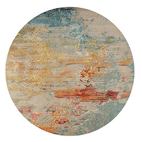 QDY-Teppich Nordic Round Carpet modernen minimalistischen Korb Teppich Drehstuhl Wohnzimmer Schlafzimmer Matte (8 Größen) (Farbe : #1, größe : 300cm) (Teppich-korb)