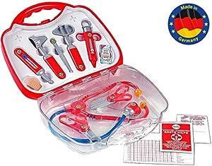 Theo Klein-4395 Maletín médico con numerosos accesorios, juguete, Multicolor (4395)