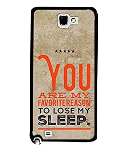 PrintVisa Designer Back Case Cover for Samsung Galaxy Note 1 (only you are my favourite reason)