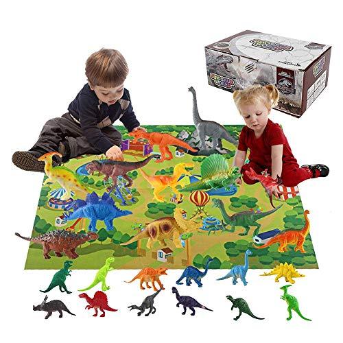 Bloomma Dinosaur Toys Mat 2019 Adventskalender für Kinder, Lernspielzeug mit 24 verschiedenen Dinosaurierfiguren Toller Weihnachts-Countdown-Adventskalender für Jungen oder Mädchen