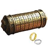 ONLYGIFTS Da Vinci Code Mini Cryptex Mit Zwei Ringen Für Weihnachten Valentinstag Interessante Spiele Geburtstag Coole Ideen Geschenke für Männer Freundin Brain Teaser Lock Puzzles