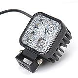 Himanjie® 2 Stück 12W LED Lampe Scheinwerfer kaltweiß Rücklicht für KFZ Arbeitsscheinwerfer wasserfest IP67