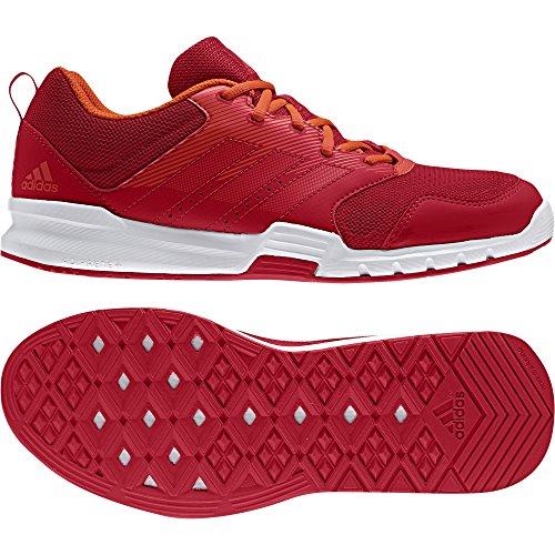 adidas Herren Essential Star 3 M Hallenschuhe Mehrfarbig (Scarlet/scarlet/ftwr White)