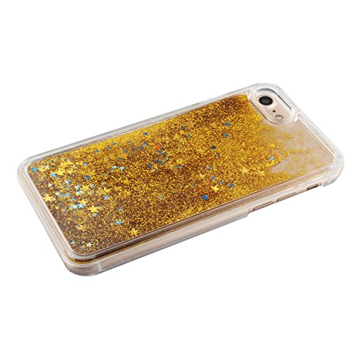 Custodia per iPhone 7 Case,Cover per iPhone 7,TOYYM - Love Heart Star Crystal Case Cover, Resistente Chiaro Trasparente [Bling Liquid] con divertente liquido flottante 3D con lussiosi glitter per iPho Color 11#
