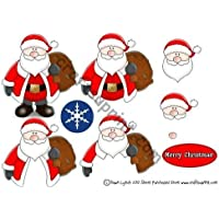 Papá Noel Navidad Papel para decoupage by Alba Lynch