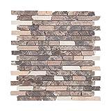 Mosaikfliesen Naturstein 30,5 x 30,5cm 1 Stück I Vezzo Ceramica I Serie 20310, Rutschhemmend