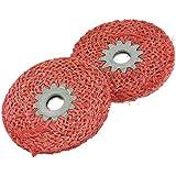"Sourcingmap - 2 piezas de metal pulido de 3.9 ""externos abrasivos sisal dia discos de pulido ruedas"