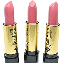 3 x JORDANA HOT COLOR # 48 MATTE PINK PASSION CREAM LIPSTICK MADE IN USA + FREE EARRING by Jordana