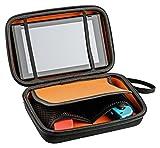 Nintendo Switch Tasche für Konsole, Joy-Con, 10 Module und Kabel - Hard Case Travel Hülle, schwarz mit Trageschlaufe