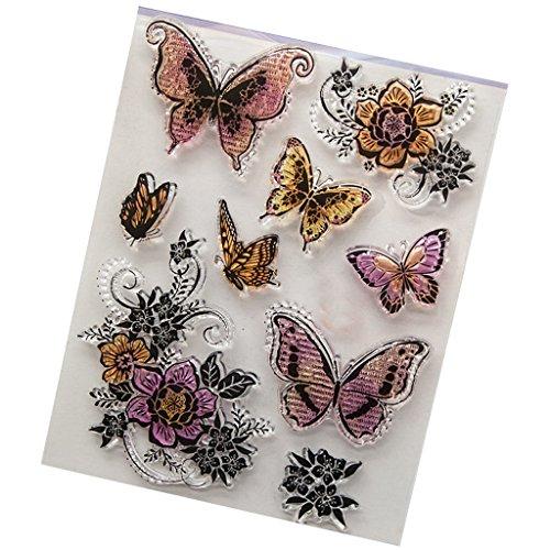 Wiffe farfalla trasparenti in silicone trasparente stamp fai da te scrapbooking album fotografici Decor