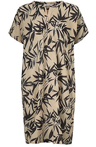 Nava Org Tropischem Clothing Blattmuster Kleid Mit Masai GrMediumSand WDe92IEHYb