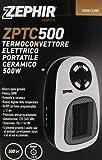 Caldobagno Termoconvettore Mini ceramico elettrico portatile 500w spina girevole
