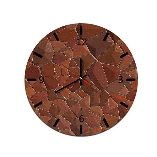 LUOYLYM Steinmuster Kreative Heimat Wanduhr Acryl Wanddekoration Uhr Stumm Bewegung Spiegel Uhr F514-151 28CM