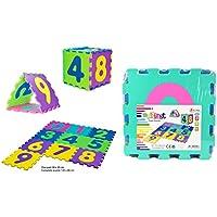 Toi-Toys 10pc Foam Mat Puzzle Floor Mat, 42020a, multi-coloured