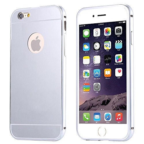 6S Case, Feikai 3 in 1 Ultra Thin and Slim Coated Premium Non Slip Matte Surface Electroplate Frame Plating Metal Texture Skin Hard Case Protector Cover With Ring Holder Stand para iPhone 6 6S Gold 6S Silver