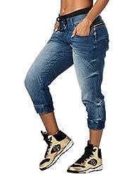 Zumba Fitness la pachanga Zippered Denim Pants Madame Pantalons