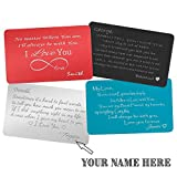 Best Couples Apparel Husband Gifts Anniversaries - Add to Name and Signature Personalized Metal Wallet Review