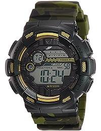Sonata Digital Black Dial Men's Watch-NK77053PP02