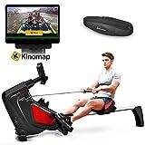 Sportstech Unisex- Erwachsene Rudergerät Smartphone steuerbar-Pulsgurt im Wert von 39,90 inkl. -Fitness App-16 Programme-Magnetwiderstand-Wettkampfmodus-klappbar, RSX500