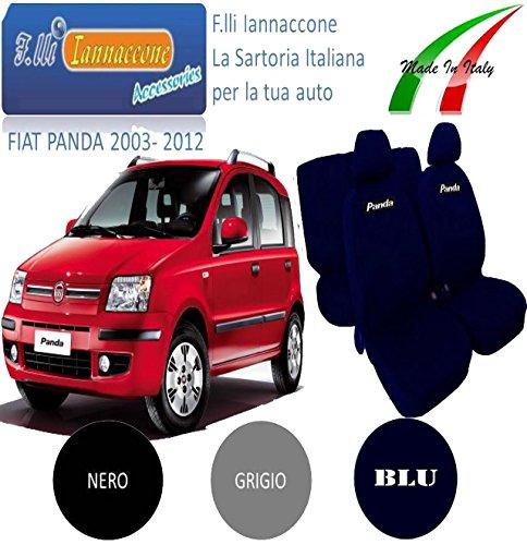 FODERE COPRISEDILI NERO+GRIGIO PER FIAT PANDA 2003-2004-2005-2006-2007-2008-2009