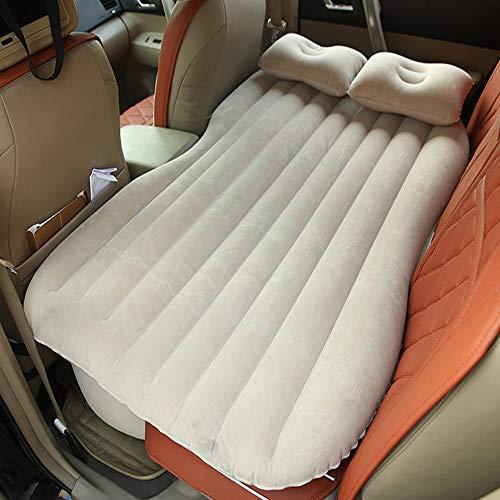 Materasso gonfiabile da auto multifunzionale pieghevole, sedile d\'auto ad aria + 2cuscini, crema