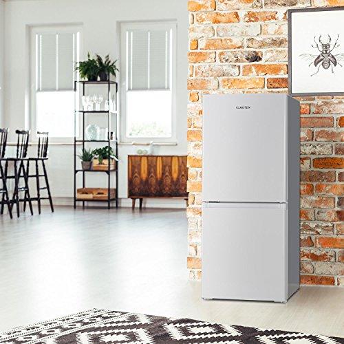 Klarstein Big Daddy Cool 100 • Kühl-Gefrierkombination • 73 L Kühlschrank • 33 L Gefrierschrank • 106 Liter gesamt • Temperaturregler • 2 Ablagen • freistehend • ca. 47 x 112 x 49 cm (BxHxT) • weiß