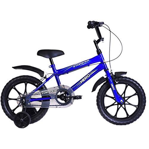 Hero Stomper 16T Steel Single Speed Junior Cycle, 12 Inch (Blue)