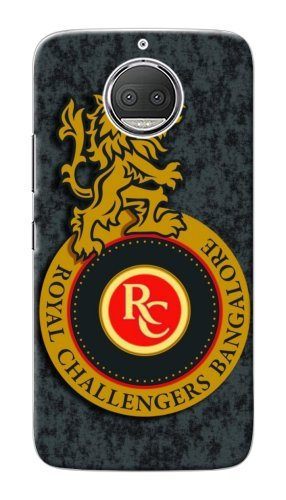 FunkyTradition IPL Royal Challengers Bangalore RCB Logo 2018 Back Case Cover For Moto G5s Plus
