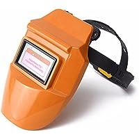 ChaRLes Pro Solar Auto Oscurecimiento Soldadura Casco Arco Tig Mig Máscara Molienda Soldador Máscara - Orange