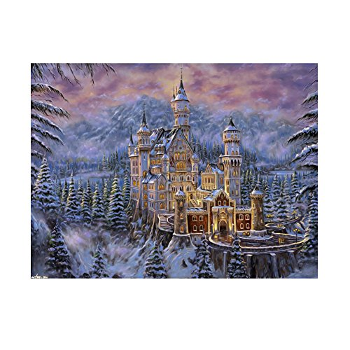 broadroot Snow Bereich Castle 5D Diamant DIY Malerei Craft Kit Home Wand-Decor (Snow-bereich)