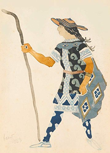 (Vintage Ballett Leon Bakst Kostüm Design, 1923. 250gsm, Hochglanz, A3, vervielfältigtes Poster)