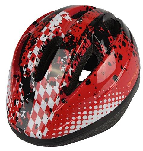 Kinder Fahrradhelm, Erwachsener Fahrrad-Sturzhelm-Fahrrad-Sturzhelm-Reithelm Road, Mountainbike Helm, Rosa, Blau und Rot Farbe, XS (48-52cm), Y-03 (Rot)