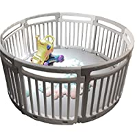 Large Baby Playpen Indoor Outdoor Kids Toddler Play Pen 8PCS with Mat - Circle