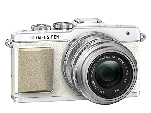 Olympus PEN E-PL7 Interchangeable Lens Camera (16.1 MP, M.Zuiko 14-42 mm II R Lens) 3.0 inch Touchscreen LCD - White