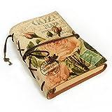 toim Retro Weiche PU-Leder loseblattwerken Zeitschriften 'Travelers Notebook Leder Tagebuch Schreiben Notebook Einband blume