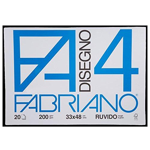 Confezione 2 blocchi fabriano f4 ruvido 33x48