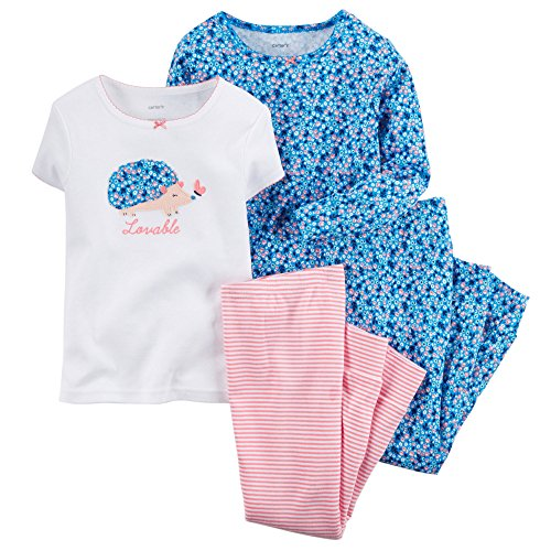 carter-4-mix-n-match-da-bambino-neonato-ragazza-lovable-cotone-pigiama-set-blue-9-mesi