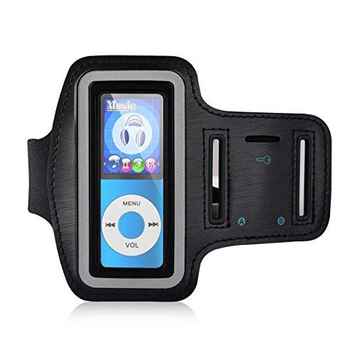 mymahdi verstellbar Gym Sport Handgelenk Armband für MP3-Player, kratzfest Material mit Schweiß- und atmungsaktive Funktion, geeignet für Ihr Workout, Schlüsseltasche und Kopfhörer Loch der