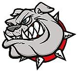Bulldogge Aufkleber 20x18.5 cm selbstklebend, glänzend für Auto, Motorrad, Fahrrad, Boot oder Caravan
