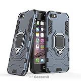 Cocomii Black Panther Armor iPhone SE/5S/5 Coque Nouveau [Robuste] Anneau Métallique Support [Fonctionne avec Support De Voiture Magnétique] Case Étui Housse for Apple iPhone SE/5S/5 (B.Black)