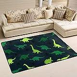 Jsteel Teppich, waschbar, weich, Bunte Dinosaurier auf dem abstrakten Bereich, 90 x 60 cm, Wohnzimmer-Teppich, Multi, 180 x 120 cm