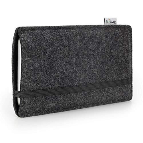 stilbag Etui Feutre 'FINN' pour Sony Xperia M4 Aqua - Couleur: Anthracite/Noir