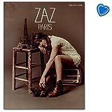 Zaz Paris - Songbook für Gesang, Klavier, Gitarre mit bunter herzförmiger Notenklammer - Verlag: Wise Publications AM1