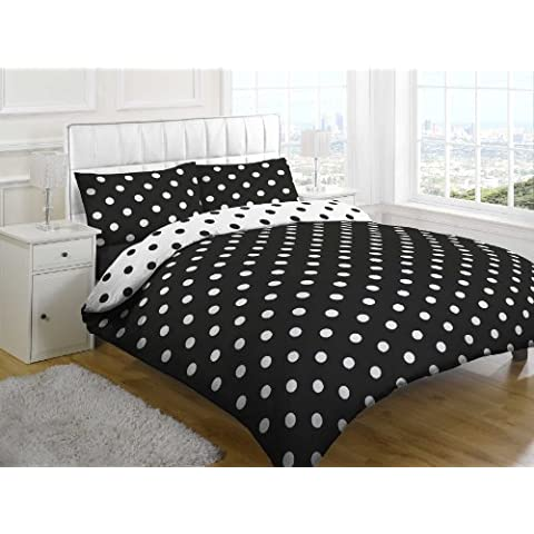 Spot On Black Impreso Set Completo de cama de tamaño king por Textiles Direct