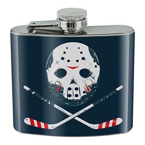 Hockey Maske Totenkopf Stick Edelstahl 142ml Hip Drink Nieren - Hydro-stick