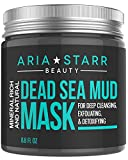 Aria Starr Dead Sea Mud Mask For Face, Acne, Oily Skin & Blackheads - Best Facial Pore Minimizer, Reducer & Pores Cleanser Treatment - Natural For Younger Looking Skin - 8.8 oz
