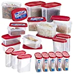 Primeway Modular Kitchen Food Savers Storage Containers, 20 Pcs Set: Perfect High Quality Containers to store Spices, Masalas, Dry Fruits, Mukhwas, etc. Various food items Snacks can be organised together. Useful in the Refrigerator for left over foo...
