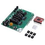 Akozon ZUM Scanner Erweiterungskarte mit A4988 tepper Motor Diver - 7-15V DC Open Source 3D-Drucker DIY Druckerzubehör