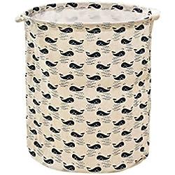 Cesto para guardar ropa sucia ,Lona impermeable sábanas ropa de lavandería cesta de almacenamiento cesta plegable caja de almacenamiento LMMVP (B, 40 * 35cm)